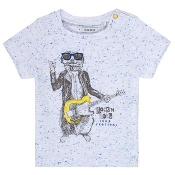 Textiel Jongens T-shirts korte mouwen Ikks MARIO Wit