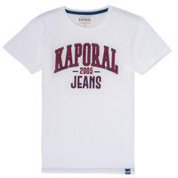 Textiel Jongens T-shirts korte mouwen Kaporal ERNIE Wit