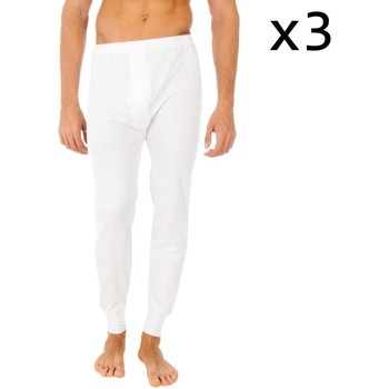Ondergoed Heren BH's Abanderado Pack-3 thermique Long Johns Wit
