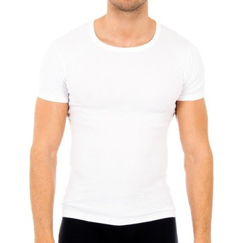 Ondergoed Heren Hemden Abanderado Pack-6 T-shirts manches courtes Cab Wit