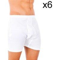 Ondergoed Heren Boxershorts Abanderado Pack-6 100% classique boxeur de coton Wit