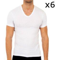 Ondergoed Heren Hemden Abanderado Pack-6 t-shirts à manches courtes Wit