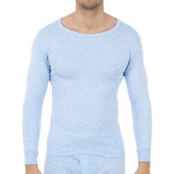 Ondergoed Heren Hemden Abanderado Pack-3 t-shirts en fibre M / L bleu clair Blauw
