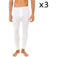 Ondergoed Heren BH's Abanderado Pack-3 pantalon intérieur des fibres longues Wit
