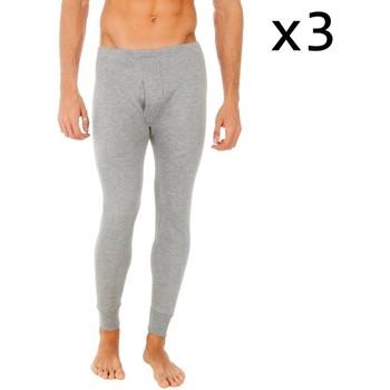 Ondergoed Heren BH's Abanderado Pack-3 pantalons intérieurs en fibres longues Grijs