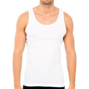 Ondergoed Heren Hemden Abanderado Pack-6 débardeurs blancs Wit