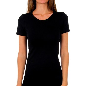Ondergoed Dames Hemden Abanderado Pack-3 t-shirt en coton sra m / c Zwart