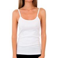Ondergoed Dames Hemden Abanderado Pack 3 T-shirt blanc trt pr.liberty Wit
