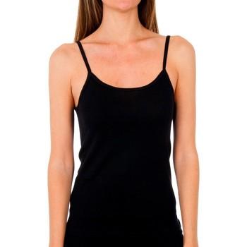 Ondergoed Dames Hemden Abanderado Pack 3 T-shirt pr. liberty trt noir Zwart