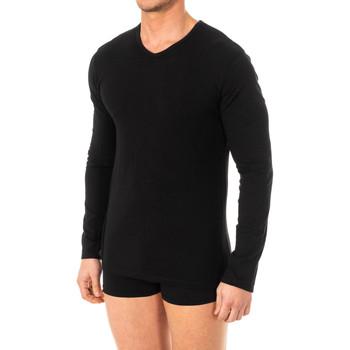 Ondergoed Heren Hemden Abanderado T-shirt X-Temp m / long Zwart