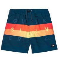 Textiel Jongens Zwembroeken/ Zwemshorts Quiksilver WORD BLOCK VOLLEY YOUTH Blauw