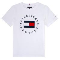 Textiel Jongens T-shirts korte mouwen Tommy Hilfiger KB0KB05718 Wit