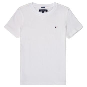 Textiel Jongens T-shirts korte mouwen Tommy Hilfiger KB0KB04140 Wit