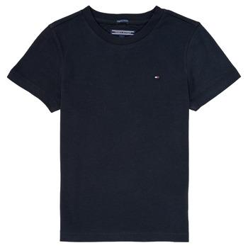 Textiel Jongens T-shirts korte mouwen Tommy Hilfiger KB0KB04140 Marine