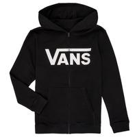 Textiel Jongens Sweaters / Sweatshirts Vans BY VANS CLASSIC ZIP HOODIE Zwart