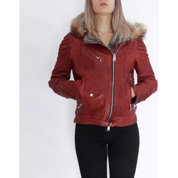 Textiel Dames Leren jas / kunstleren jas Delan V402 Rood