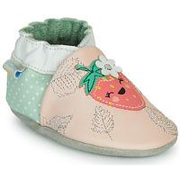 Schoenen Meisjes Sloffen Robeez FRUIT'S PARTY Roze / Groen