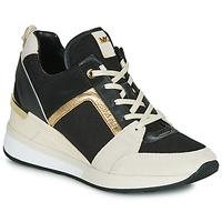 Schoenen Dames Lage sneakers MICHAEL Michael Kors GEORGIE Zwart / Beige / Goud