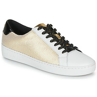 Schoenen Dames Lage sneakers MICHAEL Michael Kors IRVING LACE UP Wit / Zwart / Goud