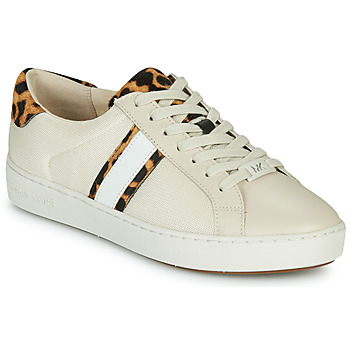 Schoenen Dames Lage sneakers MICHAEL Michael Kors IRVING STRIPE LACE UP Ecru / Leopard