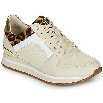 Schoenen Dames Lage sneakers MICHAEL Michael Kors BILLIE Beige / Leopard