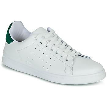 Schoenen Dames Lage sneakers Yurban SATURNA Wit / Groen