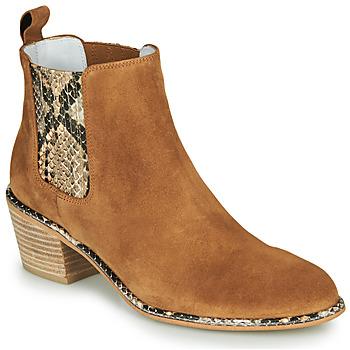 Schoenen Dames Hoge laarzen Regard NINA V6 PESCA P CUOIO Brown