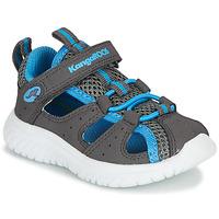 Schoenen Jongens Sandalen / Open schoenen Kangaroos KI-ROCK LITE EV Grijs / Blauw