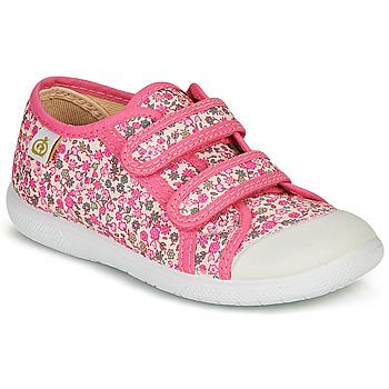 Schoenen Meisjes Lage sneakers Citrouille et Compagnie GLASSIA Roze / Multicolour
