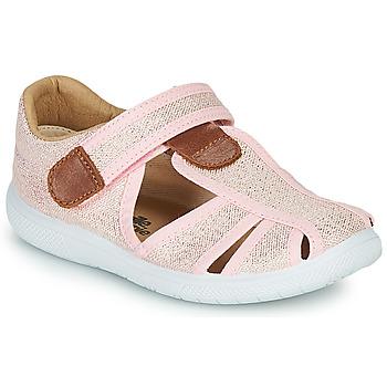 Schoenen Meisjes Sandalen / Open schoenen Citrouille et Compagnie GUNCAL Roze / Métallisé