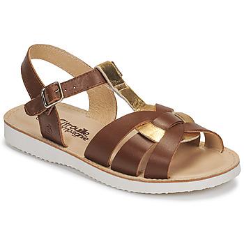 Schoenen Meisjes Sandalen / Open schoenen Citrouille et Compagnie MINOTTE Brown / Goud