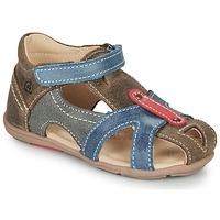 Schoenen Jongens Sandalen / Open schoenen Citrouille et Compagnie MARIOL Grijs / Blauw