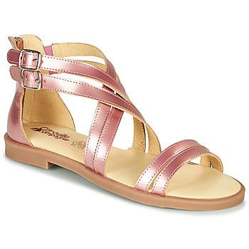 Schoenen Meisjes Sandalen / Open schoenen Citrouille et Compagnie IMOURAT Roze / Gold
