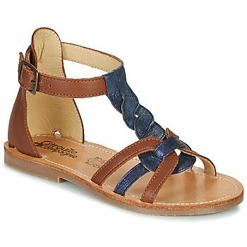 Schoenen Meisjes Sandalen / Open schoenen Citrouille et Compagnie GITANOLO Marine /  camel