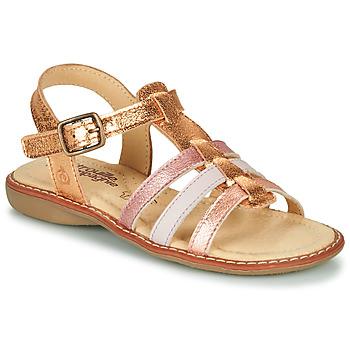 Schoenen Meisjes Sandalen / Open schoenen Citrouille et Compagnie GROUFLA Goud / Couleurs / Métallisés / Roze