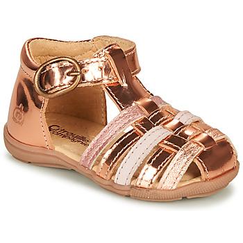 Schoenen Meisjes Sandalen / Open schoenen Citrouille et Compagnie RINE Roze / Métallisé