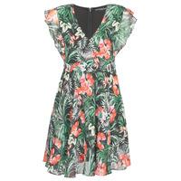 Textiel Dames Korte jurken Guess EULALIA DRESS Zwart / Groen