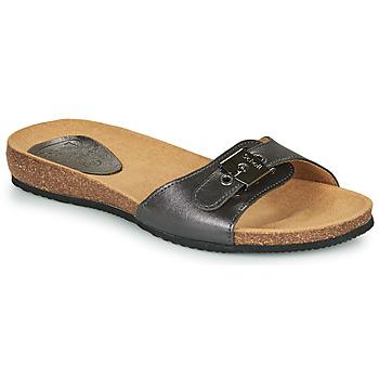 Schoenen Dames Leren slippers Scholl BAHAMAIS Zwart