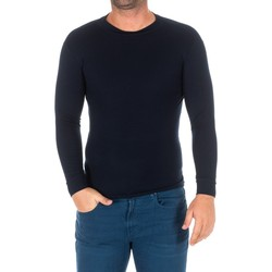 Textiel Heren T-shirts met lange mouwen Kisses And Love Bisous et amour T-shirt long Blauw