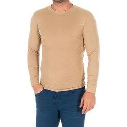 Textiel Heren T-shirts met lange mouwen Kisses And Love Bisous et amour T-shirt long Beige