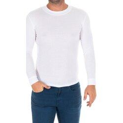 Textiel Heren T-shirts met lange mouwen Kisses And Love Bisous et amour T-shirt long Wit