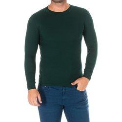 Textiel Heren T-shirts met lange mouwen Kisses And Love Bisous et amour T-shirt long Groen