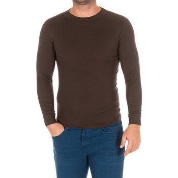 Textiel Heren T-shirts met lange mouwen Kisses And Love Bisous et amour T-shirt long Brown