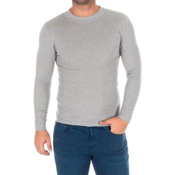 Textiel Heren T-shirts met lange mouwen Kisses And Love Bisous et amour T-shirt long Grijs