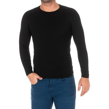Textiel Heren T-shirts met lange mouwen Kisses And Love Bisous et amour T-shirt long Zwart