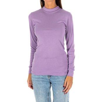 Textiel Dames T-shirts met lange mouwen Kisses And Love Bisous et amour T-shirt long Violet