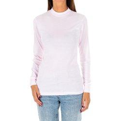 Textiel Dames T-shirts met lange mouwen Kisses And Love Bisous et amour T-shirt long Roze