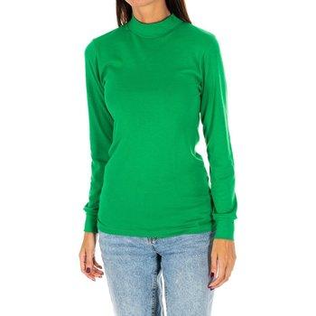 Textiel Dames T-shirts met lange mouwen Kisses And Love Long t-shirt Kisses&Love Groen