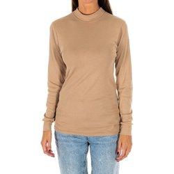 Textiel Dames T-shirts met lange mouwen Kisses And Love Bisous et amour T-shirt long Beige