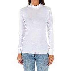 Textiel Dames T-shirts met lange mouwen Kisses And Love Bisous et amour T-shirt long Wit